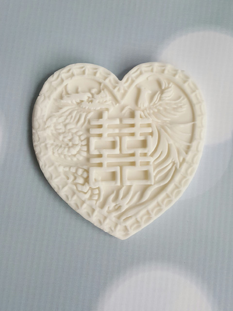 Double-Happiness-Heart-from-silicone-cake-mould-for-Chinese-Takeaway-Cake-tutorial