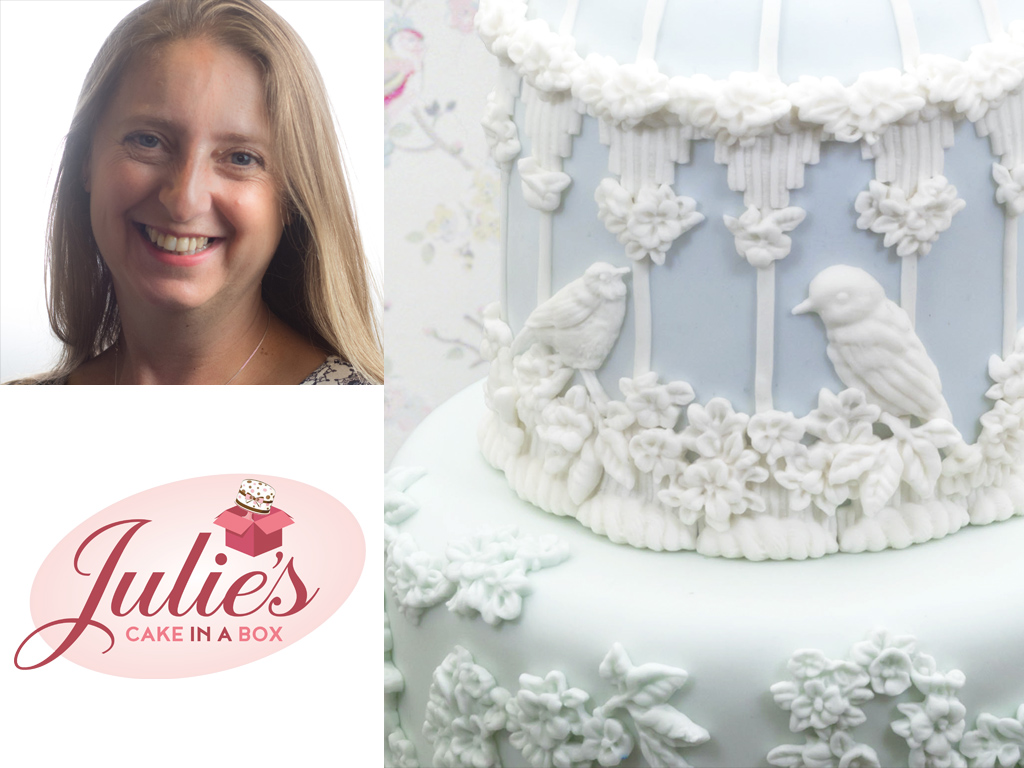 Bas-Relief Birdcage Cake by Julie Rogerson